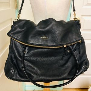 Kate Spade Extra Large Black Leather bag.